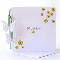 Buttercup Meadow - A Floral Get Well Soon Card