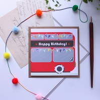 Personalise Me! Birthday Bus - A Bespoke Double Decker Bus Card