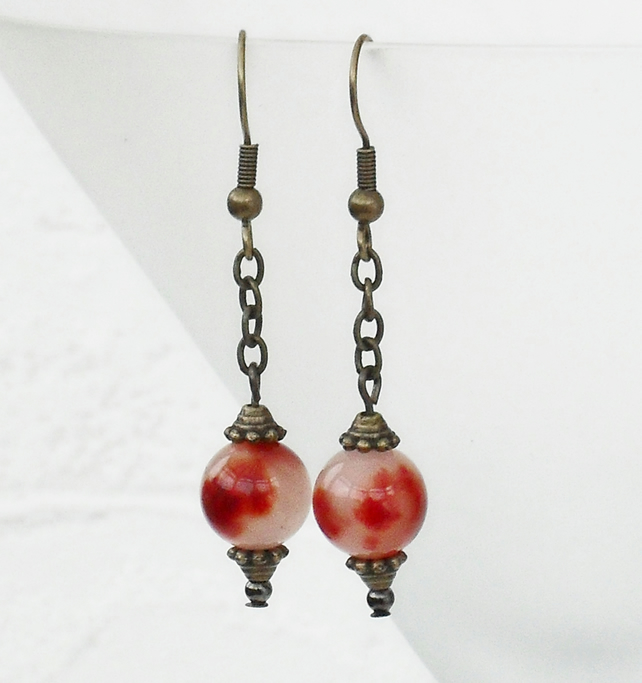 Kunzite earrings - vintage style