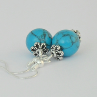 SALE: Handmade turquoise magnesite earrings