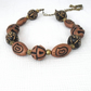 Chunky brown terracotta clay necklace