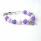 Bracelet, Lavender and purple gemstones with butterfly charm