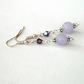 Handmade lavender jade and crystal earrings