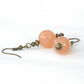 Handmade earrings, vintage style carnelian