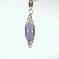 Peas in a Pod lavender alexandrite clip on charm,  bracelet or necklace charm