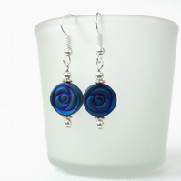 Coloured hematite earrings