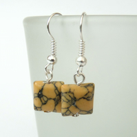 Yellow howlite earrings