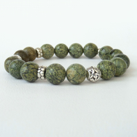 Green jasper stretchy bracelet