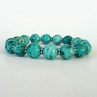 Spider-vein turquoise stretchy bracelet