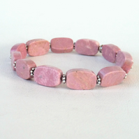 Pink turquoise stretchy bracelet