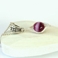 Deep pink banded agate wire wrapped necklace