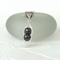 Hematite 'Peas in a Pod' wire wrapped necklace -other colours & sizes available