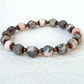 Copper and Zebra jasper stretchy bracelet