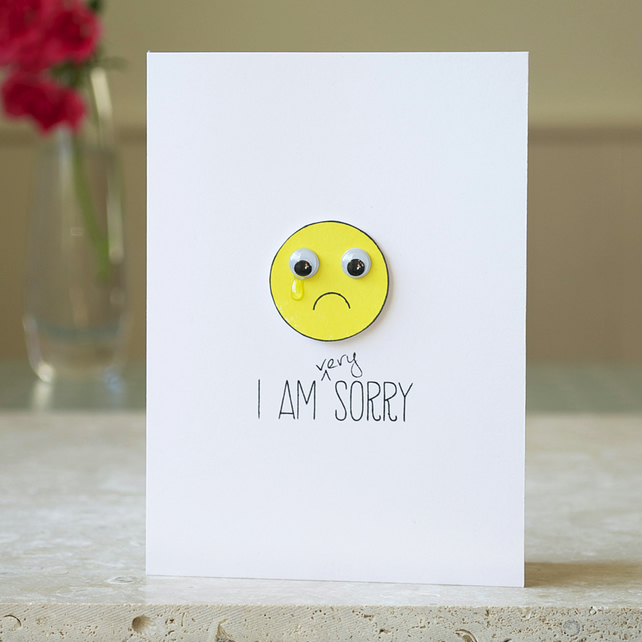 Handmade Quot I M Sorry Quot Card With Wiggle Folksy