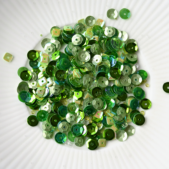 Rainforest Sparkly Shaker Selection - Seed Beads, Sequins and Confetti