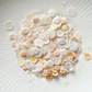 Creme Caramel Sparkly Shaker Selection - Seed Beads, Sequins and Confetti