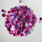Deep Fuchsia Sparkly Shaker Selection - Seed Beads, Sequins and Confetti