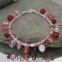 *Strawberry Sorbet* Crystal Bracelet