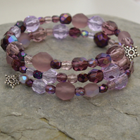 *Blackcurrant* Crystal Bracelet