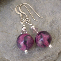 *Magenta Skies* Gemstone Earrings