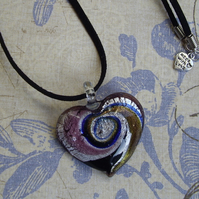 *Swirling Heart* Pendant - Plum1