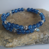 **SALE**Final Reductions! Blue Crackle Bangle