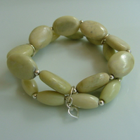 **SALE**Final Reductions! Dawn Butter Jade Bracelet