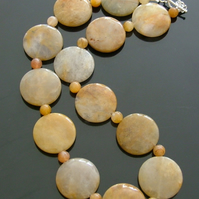 **SALE**Final Reductions! Sunrise Golden Jade Necklace