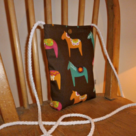 horse or pony print cross body bag for dog walkers