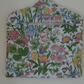 Floral vintage fabric peg bag - LARGE!