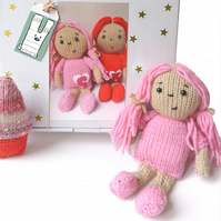 Dolly Knitting Kit- Candyfloss Pink