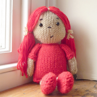 Dolly Knitting Kit- Cherry Red