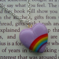 Lilac Rainbow Heart FOR CHILDREN IN NEED