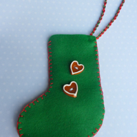 Felt Christmas stocking decoration FOR CHILDREN IN NEED