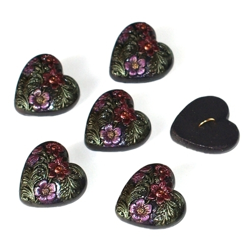 Floral Heart Buttons FOR COMIC RELIEF