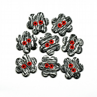 Red-nosed zebra buttons FOR COMIC RELIEF