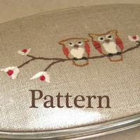 PDF Embroidery pattern – Owls FOR COMIC RELIEF