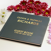 Wedding guest book, visitors book, personalised book, custom guest book