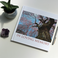 Book of condolence, memory book, customised book