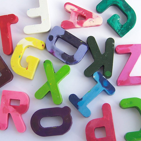 Personalised name letter crayons