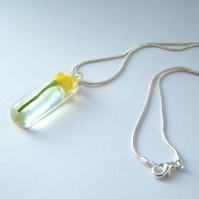 Spring Daffodil Resin Necklace