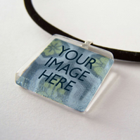 Personalised Glass Tile Pendant Necklace