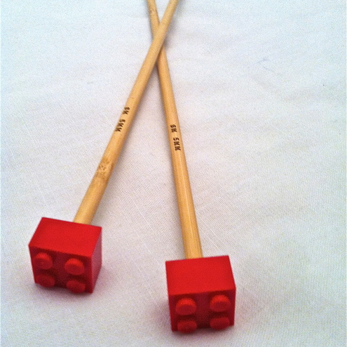 lego knitting needles