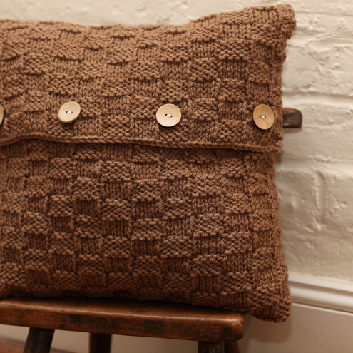 Chocolate textured cushion cover