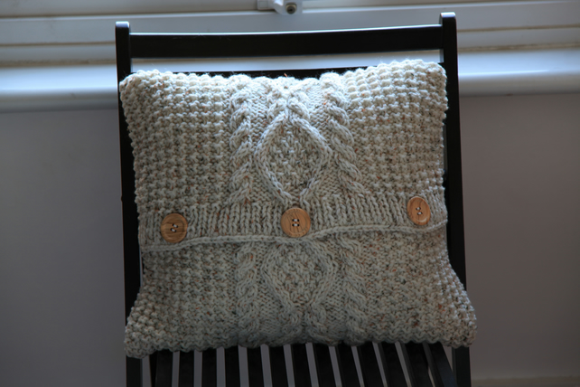 Chunky Cable Knit Cushion Cover Folksy