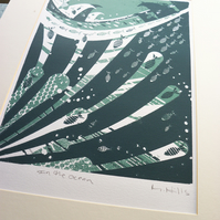 In The Ocean - Screen Print