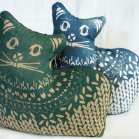 CAT - Screen Printed Doorstop