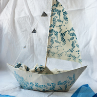 Screen Printed Papier Mache Boat