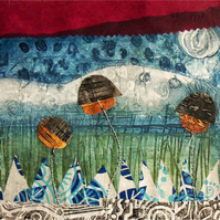 Art print of my Collagraph and Screen Printed Collage - The Swaying Seeds