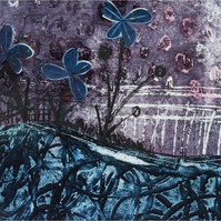 Original Collagraph and Collage  :: Violet ::
